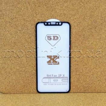 Защитное стекло для Apple iPhone X (4D/5D Black)