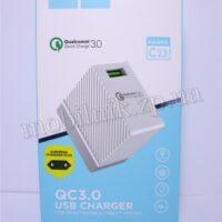 Сетевое зарядное устройство Hoco C23 Quick Charge Qualcomm 3.0