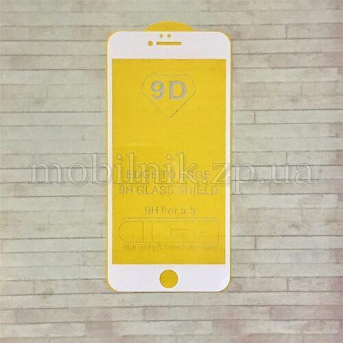 Защитное стекло для Apple IPhone 6/6s Plus (4D/5D White)