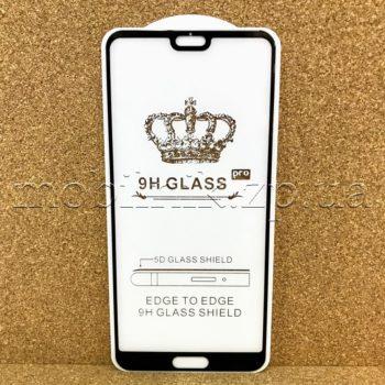 Защитное стекло для Huawei P20 Black 5D