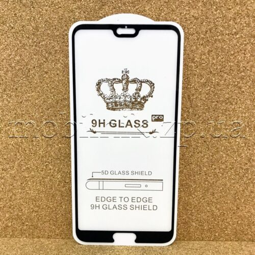 Защитное стекло для Huawei P20 Pro Black 5D