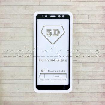 Защитное стекло для Samsung A8 2018 Black