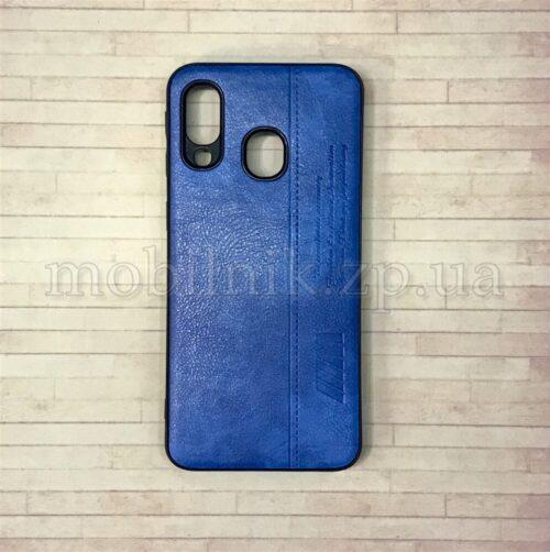 Чехол накладка для Samsung A40 синий