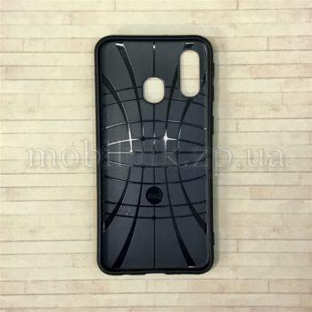 Чехол накладка для Samsung A40 темно-синий
