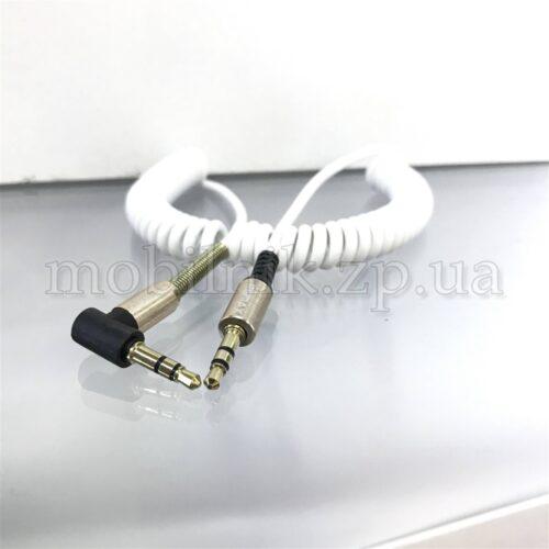 Кабель AUX Remax угловой пружина 2м