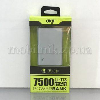 Внешний аккумулятор Power Bank Digi Li-113 7500mAh