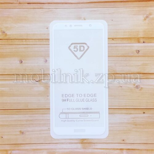 Защитное стекло для Huawei Y6 2018 White