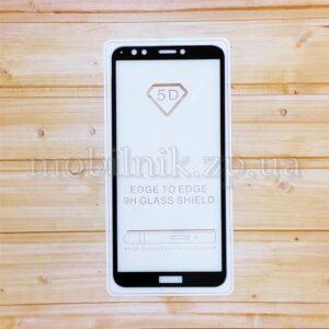 Защитное стекло для Huawei Y7 2018/Honor 7C Black