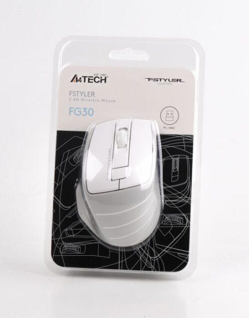 Мышь A4Tech FG30 (Grey+White) беспроводная Купить в Запорожье