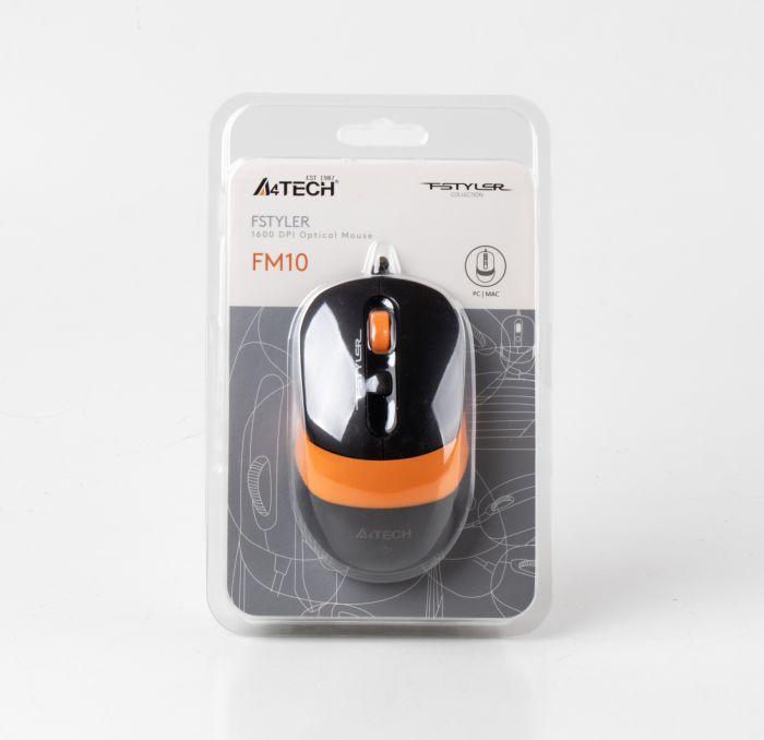 Мышь A4tech FM10 Fstyler Black-Orange Купить в Запорожье