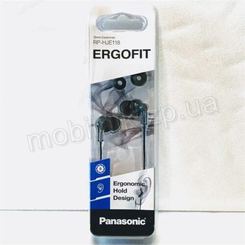 Наушники Panasonic Ergofit RP-HJE118 Black Купить в Запорожье